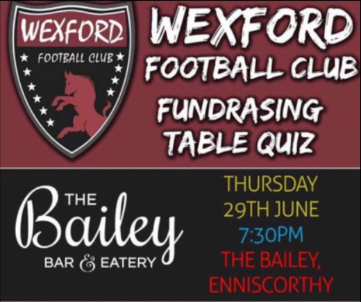 Wexford Football Club Fundraising Table Quiz